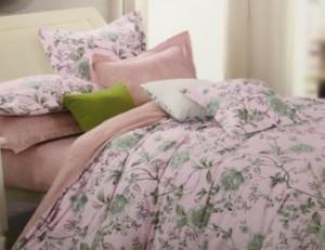 КПБ из сатина 1,5 Здоровый сон нежно-розовый с цветами 02040102