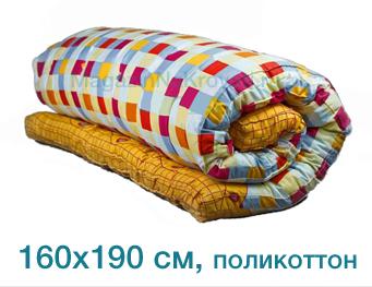 Ватный матрас из ваты размер 160x190 см, верх - поликоттон арт. 03020206 – купить в интернет-магазине матрасов (вата) СПб