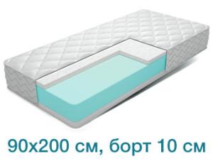 Поролоновый матрас 90x200 см, борт 10 см