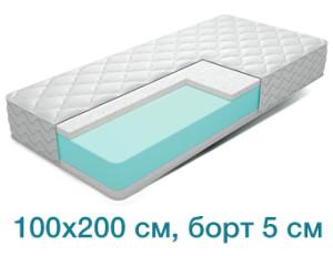 Поролоновый матрас 100x200 см, борт 5 см